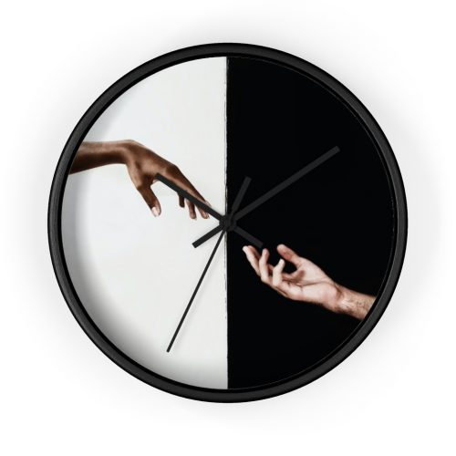 yin and yang wall clock